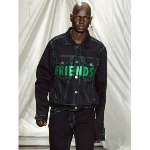 VLONE Unisex Denim Street Style Denim Jackets Logo Jackets