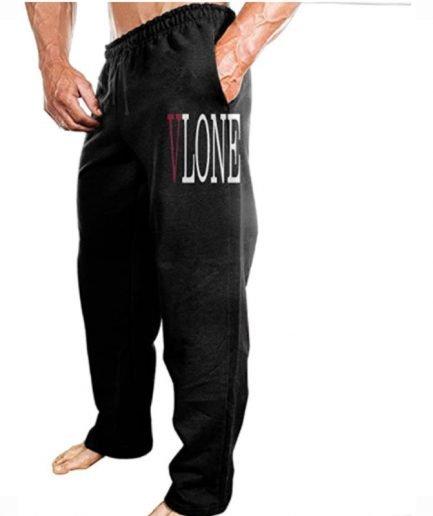 Dena-J Men ASAP Vlone A$AP Mob ASAP Rocky Lord Hiphop Particular Sweatpants Leisure Style Black