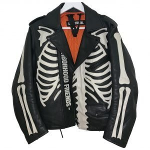 Leather vest Vlone White in Leather