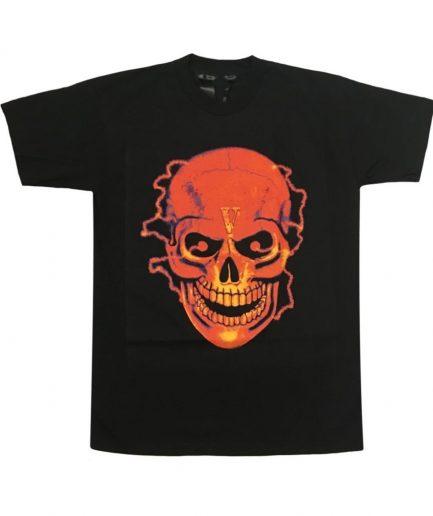 Vlone Flame Skull Tee Shirt