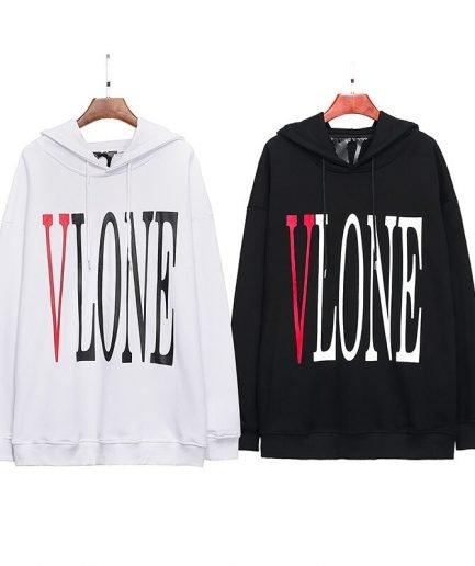 Vlone LOGO Printed Hip Hop Fashion High Quality Long Sleeve Sweatshirt Hoodies
