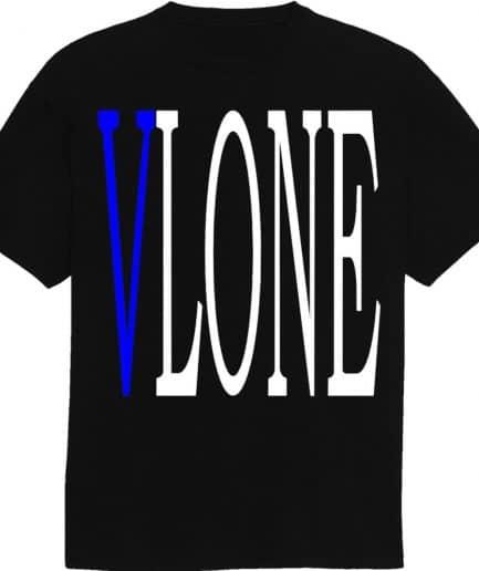VLONE Blue V Printed T-Shirt