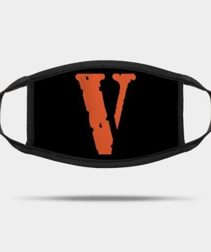 VLONE Design Orange V Face Mask