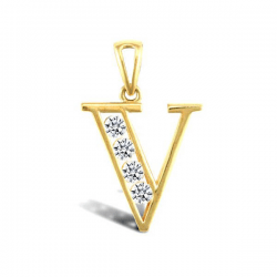 VLONE V Letter Pendant Necklace