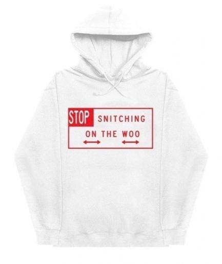 Vlone x Pop Smoke Stop Snitching Hoodie