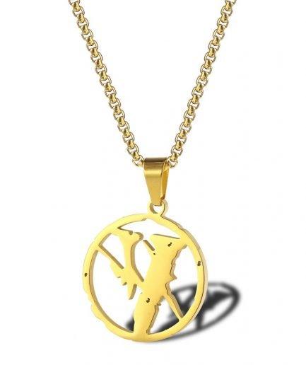 VLONE Lightning Joint Hip-hop Necklace