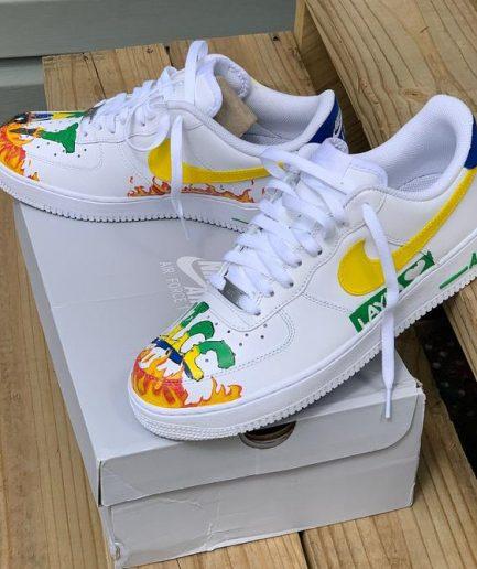 VLLONE Fire Custom Shoes