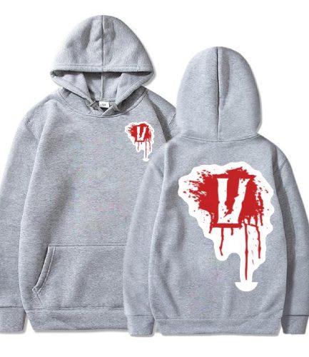 Blood V Vlone Gray Hoodie