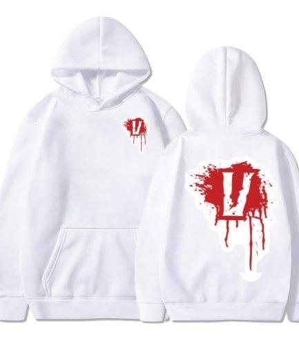 Blood V Vlone white Hoodie