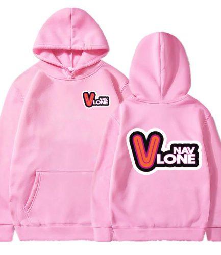 Vlone Nav Pink Hoodie