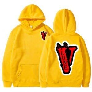 Vlone Red V Yellow Hoodie