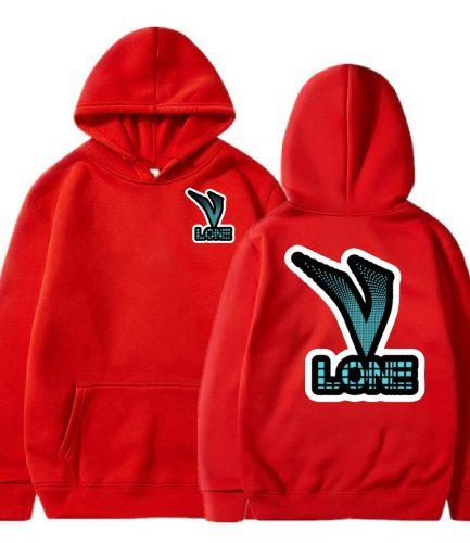 Vlone Text Logo Red Hoodie