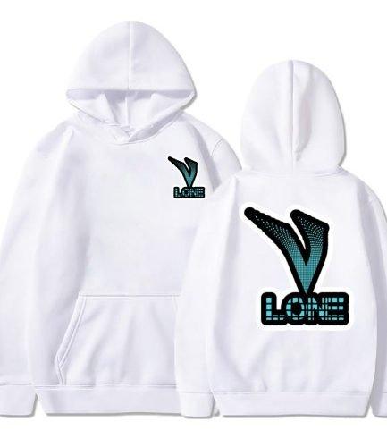 Vlone Text Logo white Hoodie