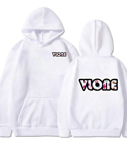 Vlone Classic Logo White Hoodie