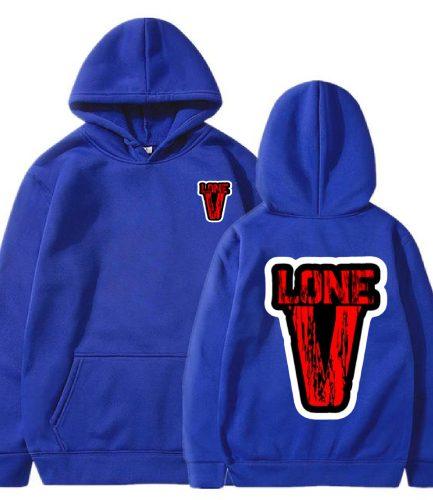 Vlone Nav x Drip Pullover Blue Hoodie