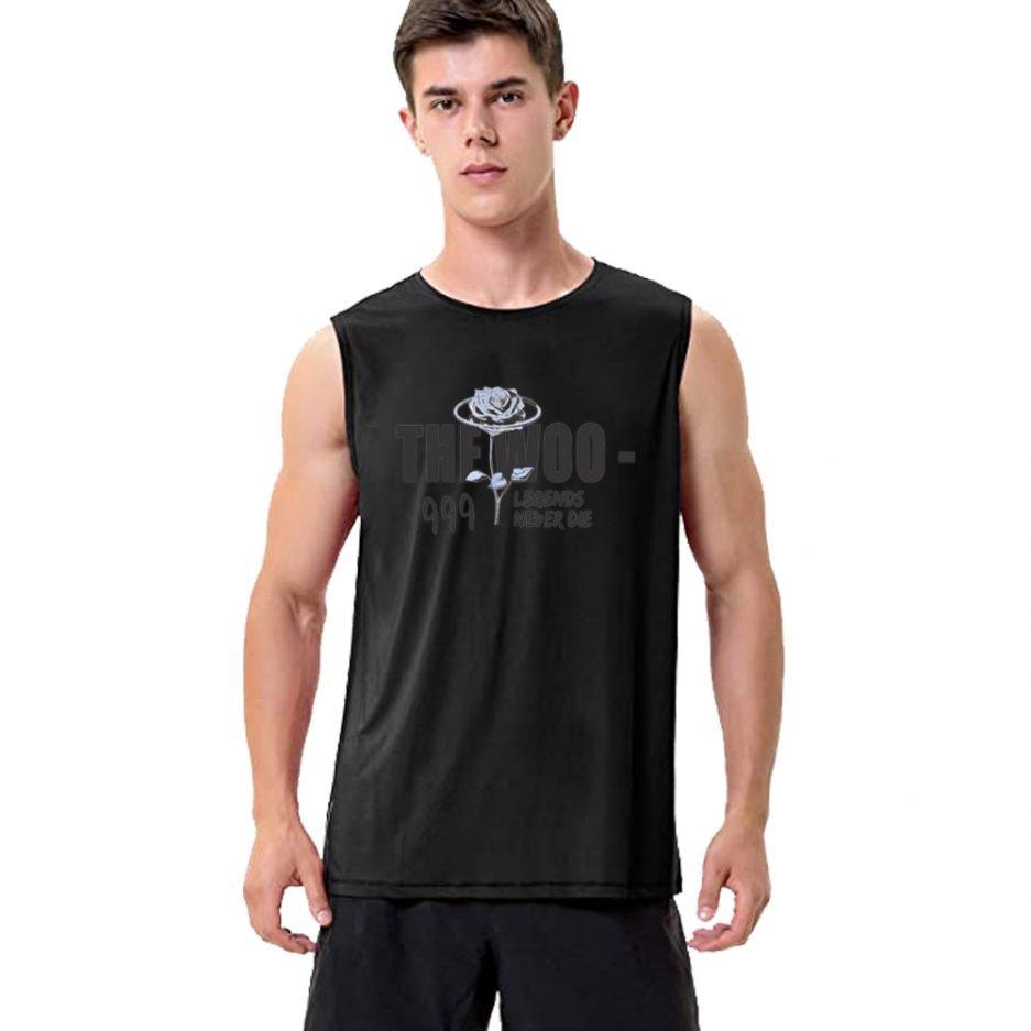 VLONE The Woo x Pop Smoke Sleeveless Shirt in Black