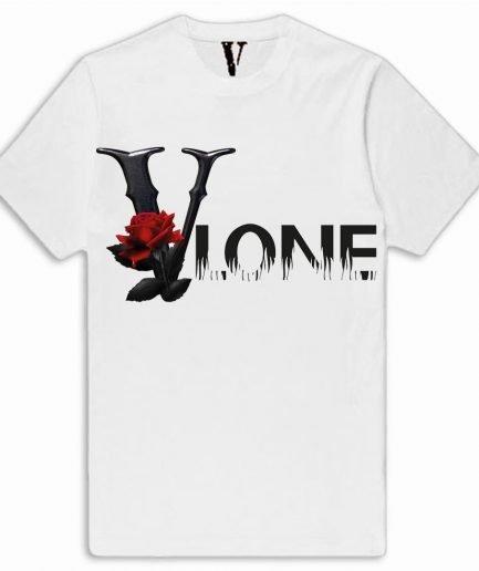 V-Lone Red Flowers Shirt White