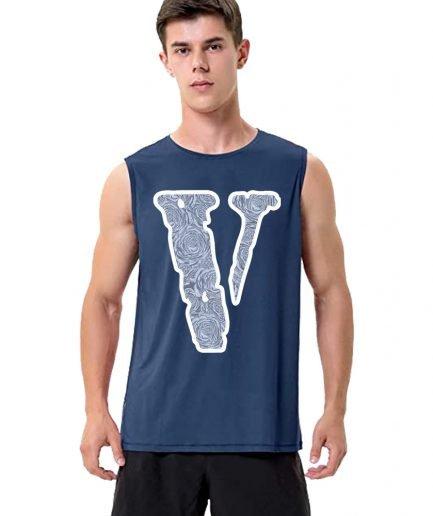 Vlone Friend Big V Letter Sleeveless Shirt