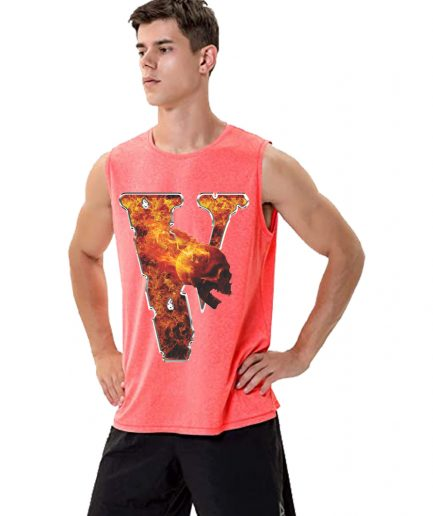 Vlone X Skull Fire Sleeveless Shirt