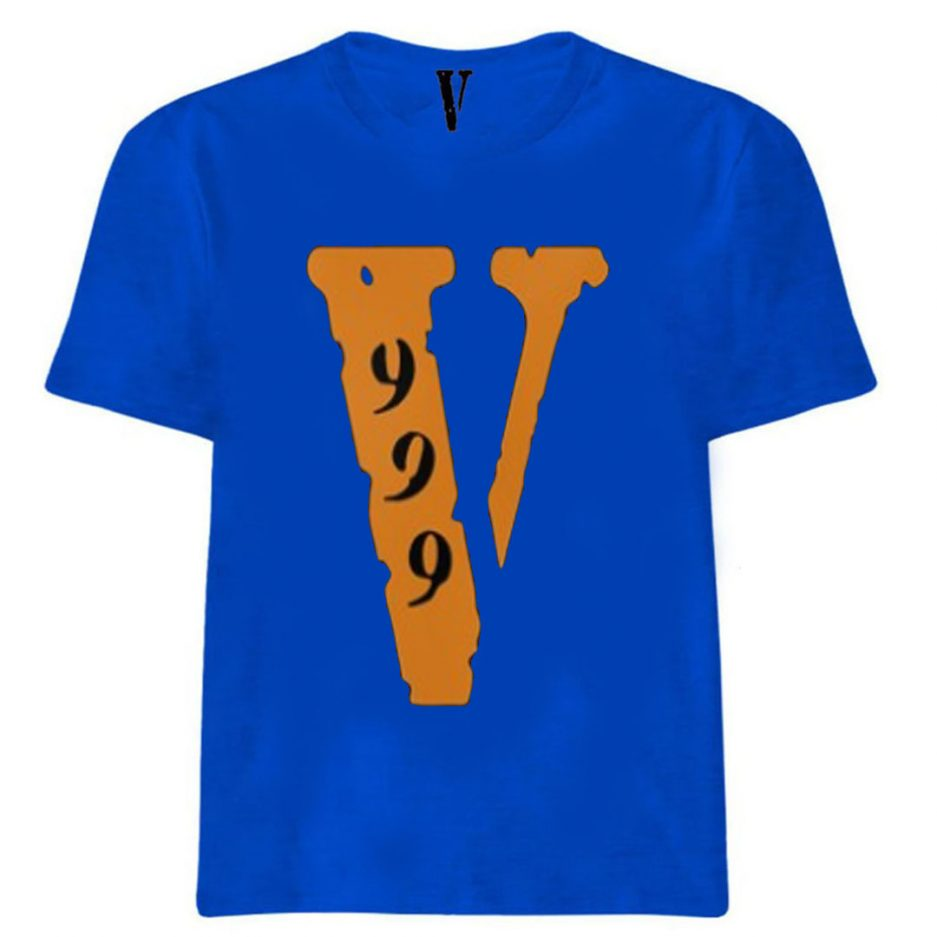 Vlone 999 All Over T-Shirt Blue