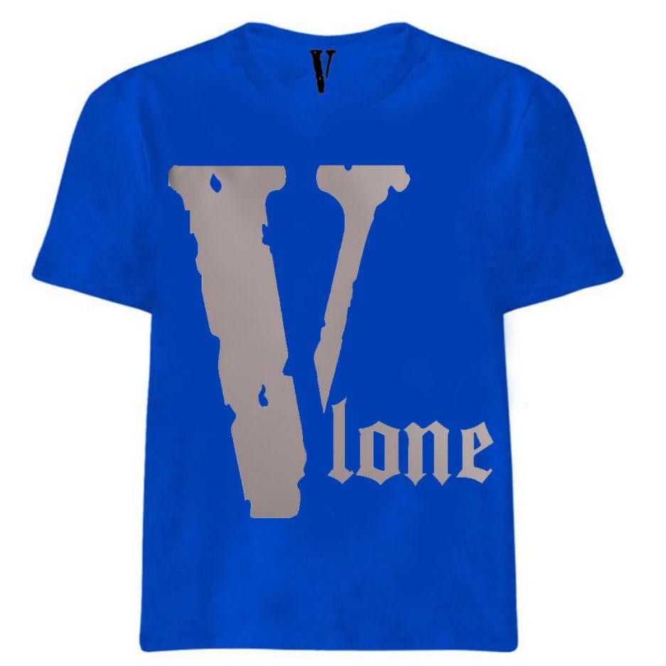 Vlone Best Selling Logo T-Shirt Blue