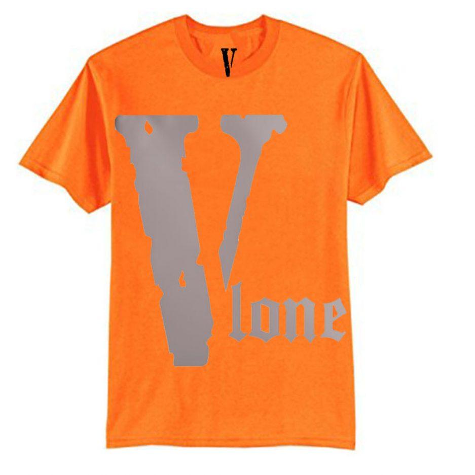 Vlone Best Selling Logo T-Shirt Orange