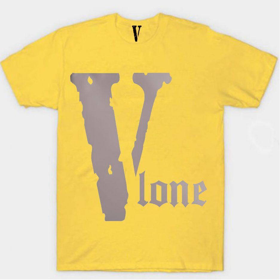 Vlone Best Selling Logo T-Shirt Yellow