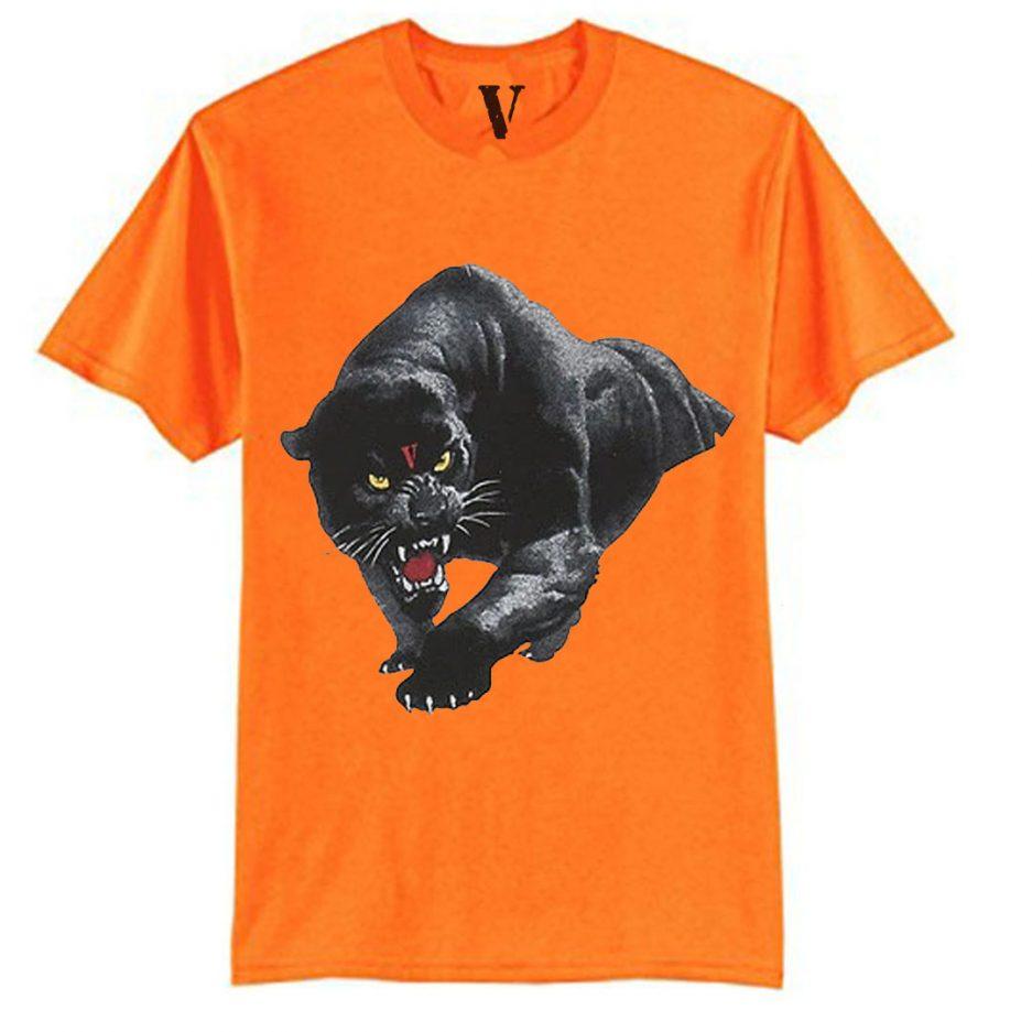 Vlone Black Panther Tee Orange