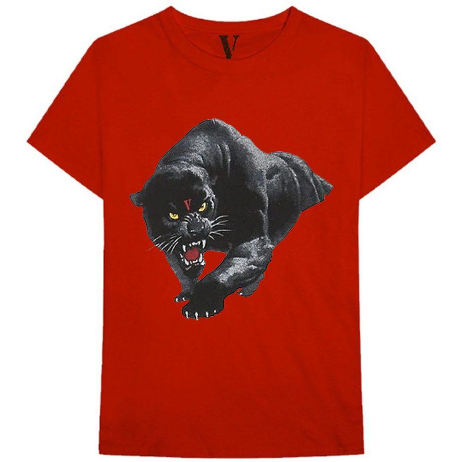 Vlone Black Panther Tee Red