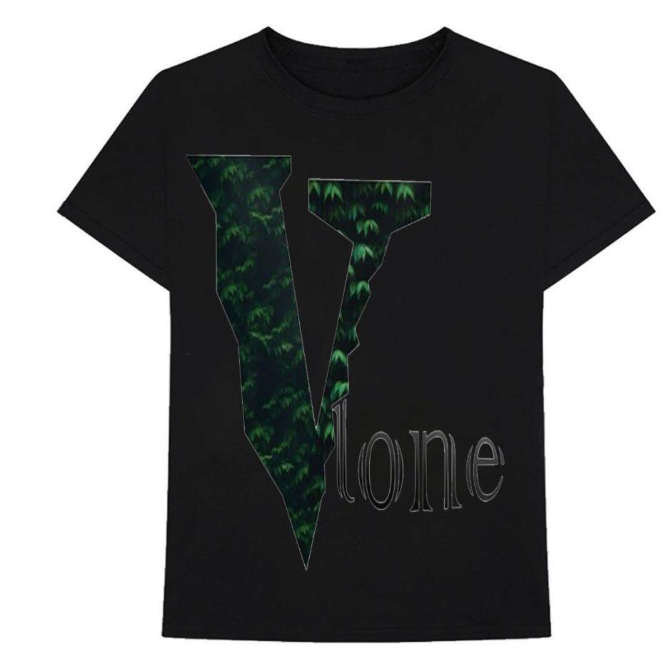 Vlone Plants Tree Logo T-Shirt Black