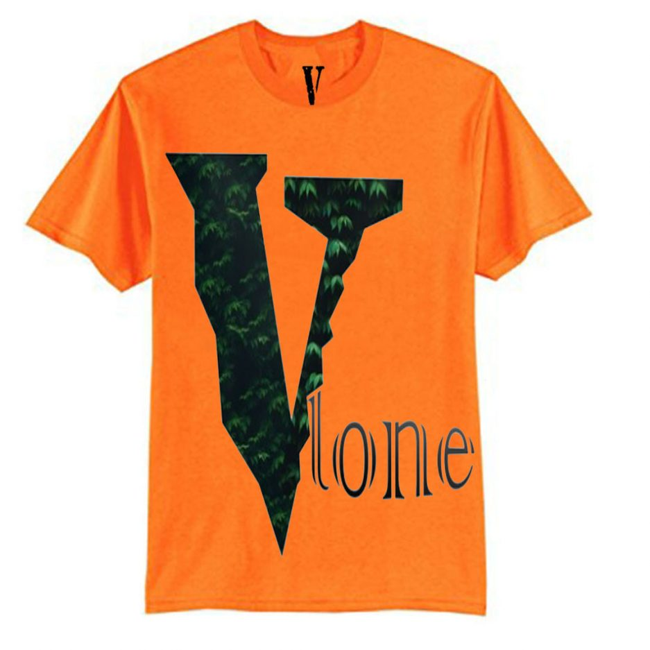 Vlone Plants Tree Logo T-Shirt Orange