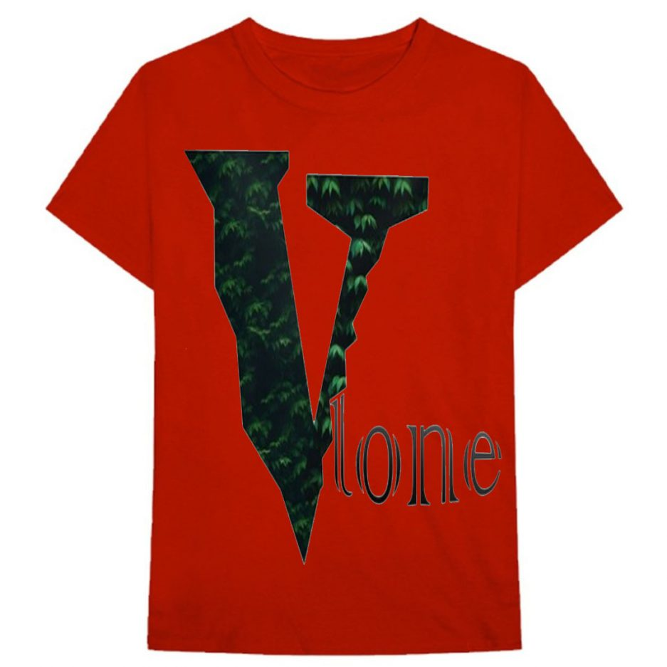 Vlone Plants Tree Logo T-Shirt Red
