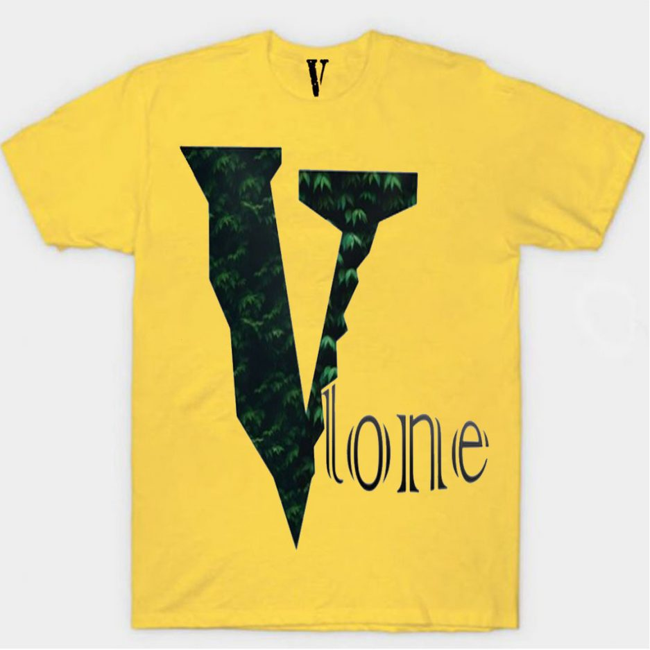Vlone Plants Tree Logo T-Shirt Yellow