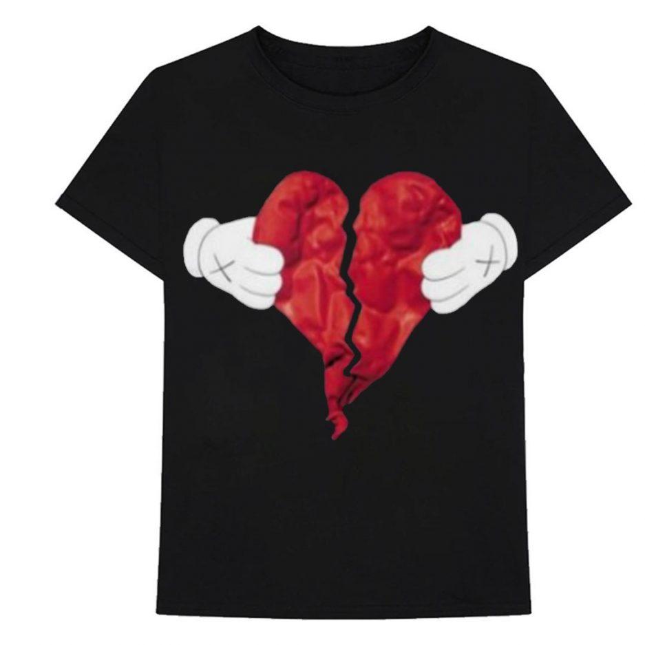 Vlone X Broken Heart T-Shirt Black
