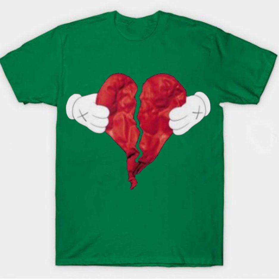 Vlone X Broken Heart T-Shirt Green