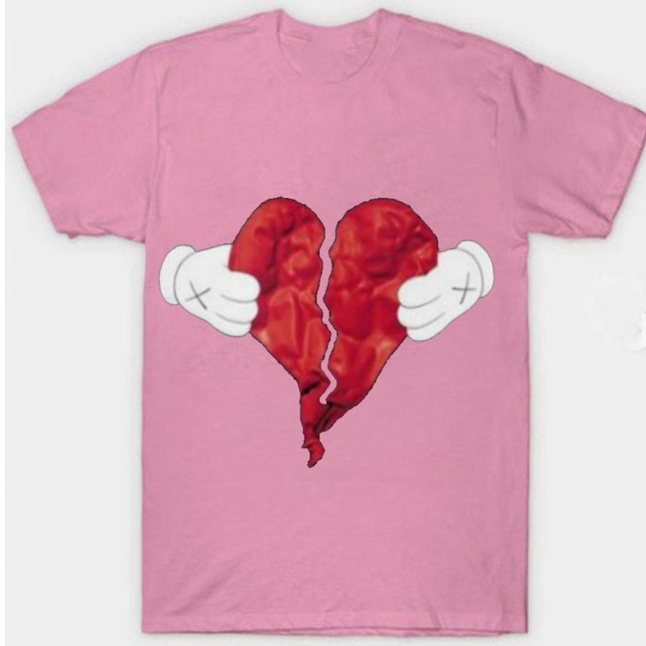 Vlone X Broken Heart T-Shirt Pink