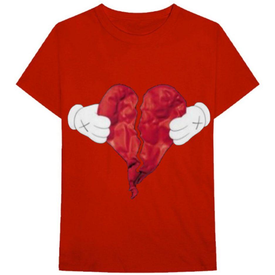 Vlone X Broken Heart T-Shirt Red