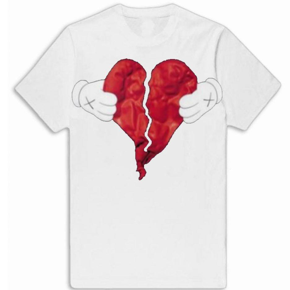 Vlone X Broken Heart T-Shirt White